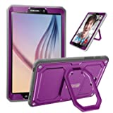 Fintie Case for Samsung Galaxy Tab A 10.1 - [Tuatara Magic Ring] 360 Rotating Multi-Functional Grip Stand Shockproof Cover Built-in Screen Protector for Tab A 10.1 Inch NO S Pen Version Tablet, Purple (Color: Purple, Tamaño: 10.1 Inch)