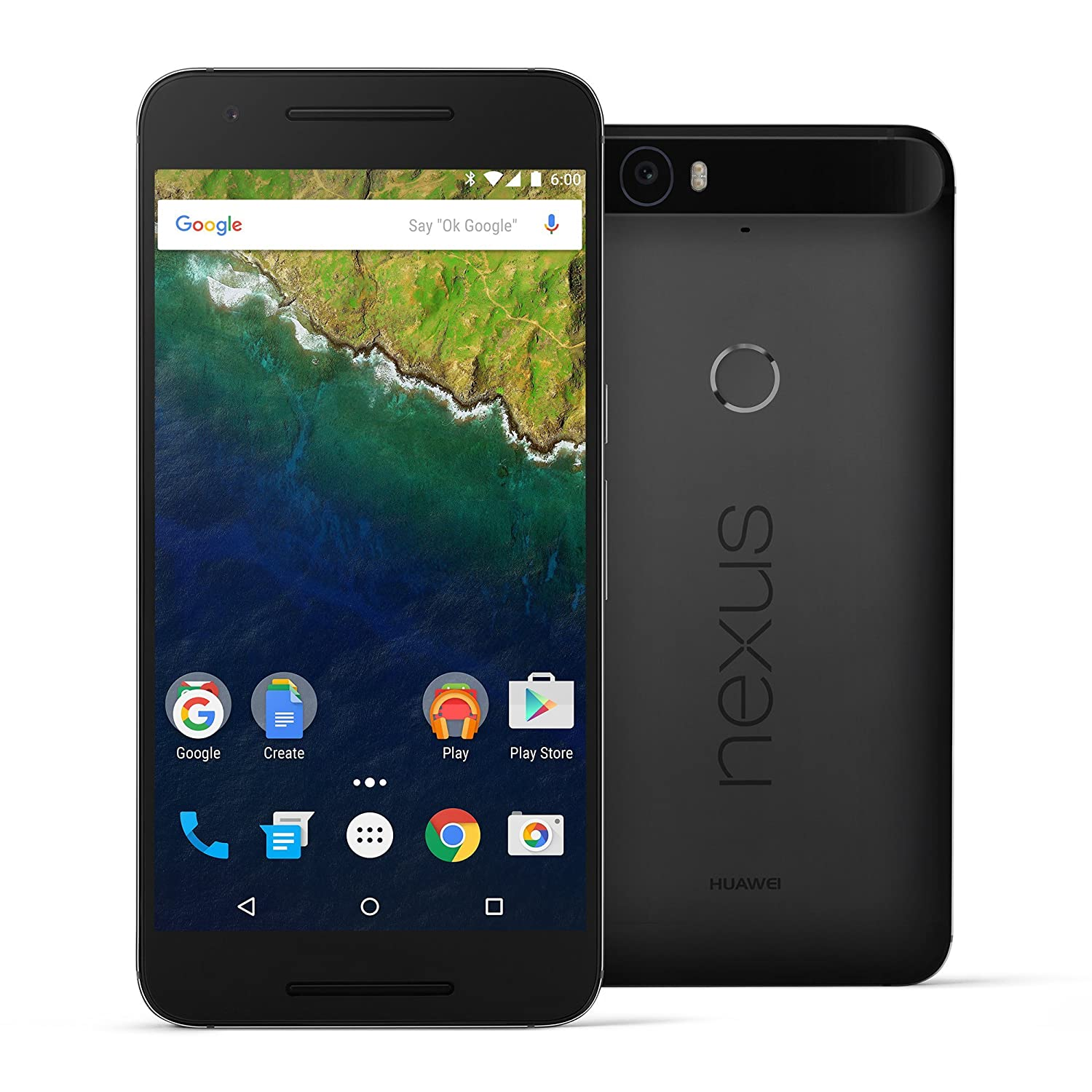 Huawei Nexus 6P - 64 GB Graphite (U.S. Version: Nin-A12) - Unlocked 5.7-inch Android 6.0 smartphone w/ 4G LTE (U.S. Warranty)