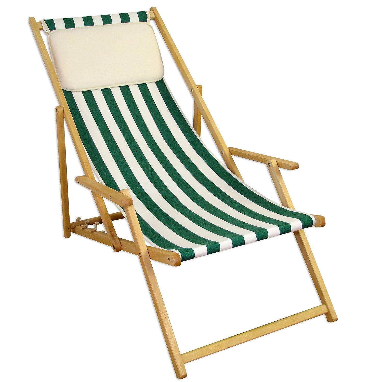 Sonnenliege Gartenliege Deckchair Saunaliege Beige