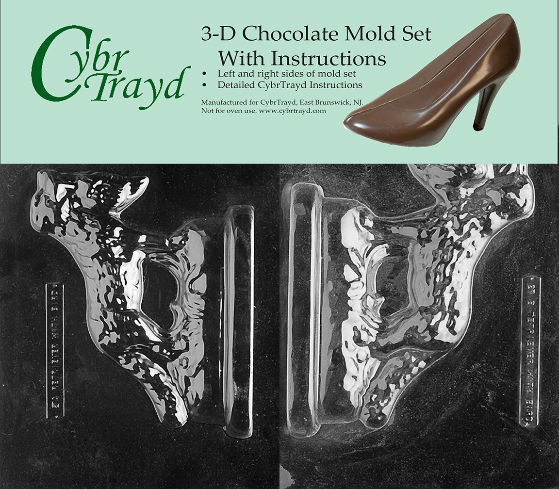Cybrtrayd DOG027AB Chocolate Candy Mold, Includes 3D Chocolate Molds Instructions and 2-Mold Kit, Golden Retriever with Bird new watson 853 die molds for candy tablet press mold pill maker tdp 0 1 5 free shipping
