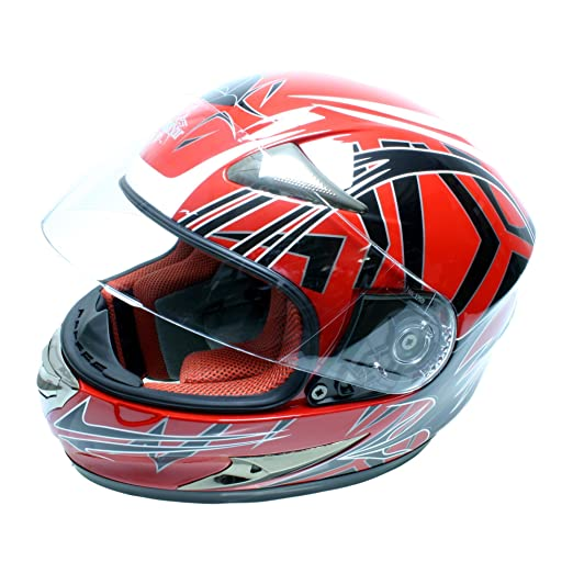 Roadstar 0.502.76 integral casque duke barco flight rouge mat)