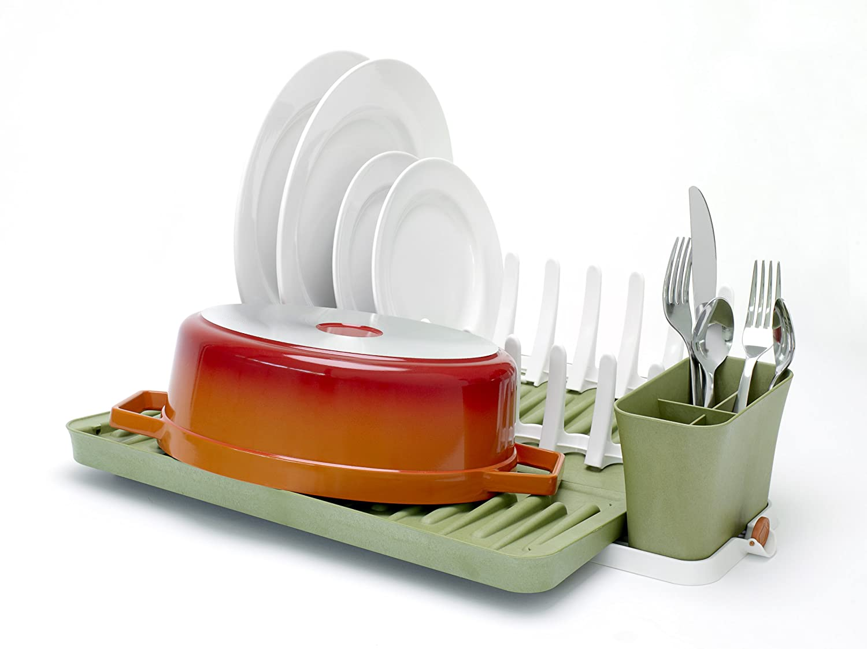 Full Circle Smart Rack Foldable Dish Rack, Grass Green