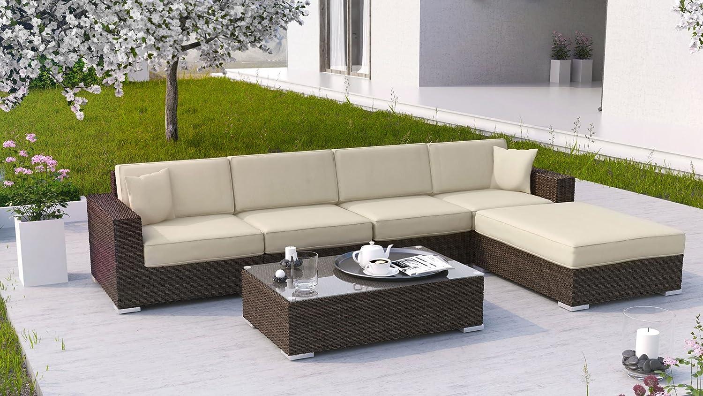 Milano Lounge Gartenmöbel In Modern Braun Günstig Online Kaufen