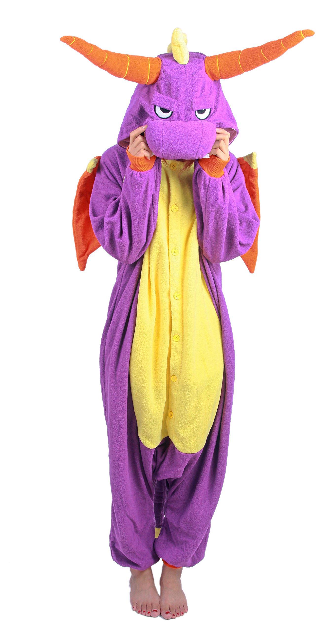 Jurassic Period Pack Purple Dragon Kigurumi Costume