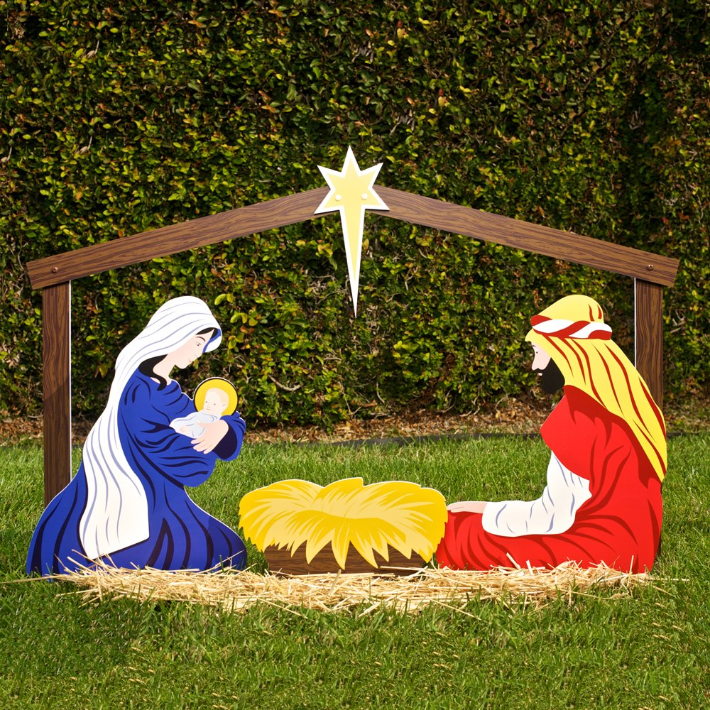 The best nativity scene yard displays nativity scene for Outdoor christmas scenes
