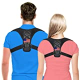 Posture Corrector for Men & Women by Comcl – USA Designed Upper Back Support Brace for Providing Pain Relief from Neck,Back, Shoulder and Bad Posture - Clavicle Support Brace for Slouching & Hunching (Color: Black, Tamaño: Unisex And Fits Chest Sizes from 28