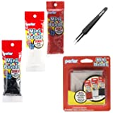 Perler Mini Beads Bundle - Black, White and Red with Tweezers and Pegboards (Tamaño: 3 Pack - Black, White, Red, Tweezers and Pegboards)