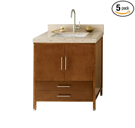 "Ronbow 039230-3-F08_Kit_1 Juno Bathroom Vanity Set, 30"", Cinnamon"