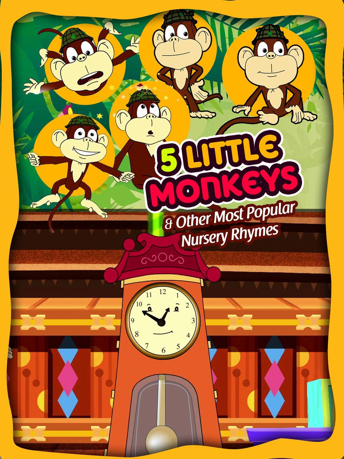 5 little Monkeys & Other Most Popular Nursery Rhymes (HD) Shemaroo Kids