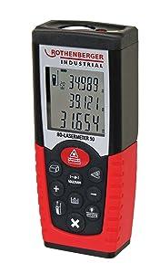 Rothenberger Industrial  RO Laser Meter 50  Laser Distanzmessgerät  Messdistanz 50 Meter  BaumarktKundenberichte und weitere Informationen