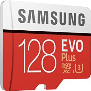 Samsung 128GB EVO Plus Class 10 Micro SDXC with Adapter (MB-MC128GA) (Color: Multicolor, Tamaño: One Size)