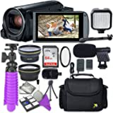 Canon VIXIA HF R800 Camcorder with Sandisk 64 GB SD Memory Card + 2.2x Telephoto Lens + 0.42x Wideangle Lens + Video Accessory Bundle