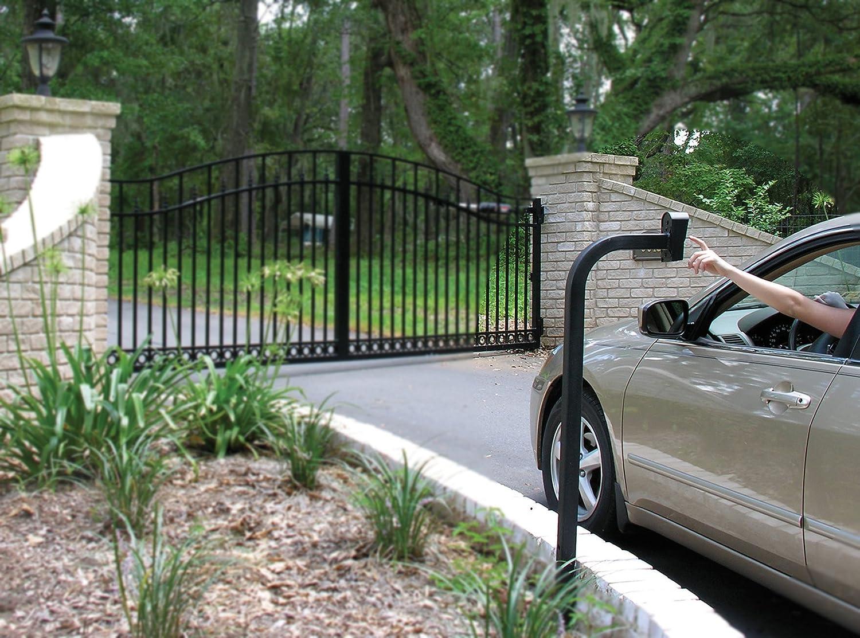 Powder Coated Black Keypad Mounting Gate Opener Post
