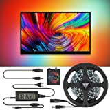 TV LED Backlight WS2812B Ambient Light Strip for 60'' 65'' 70'' Inches, 16.4ft/5M Dreamcolor Individually Addressable LED Strip Light, 5050 SMD RGB Non-Waterproof 300LEDs Rope LED TV Backlight (Color: 60leds/M, Tamaño: 5m/16.4ft)