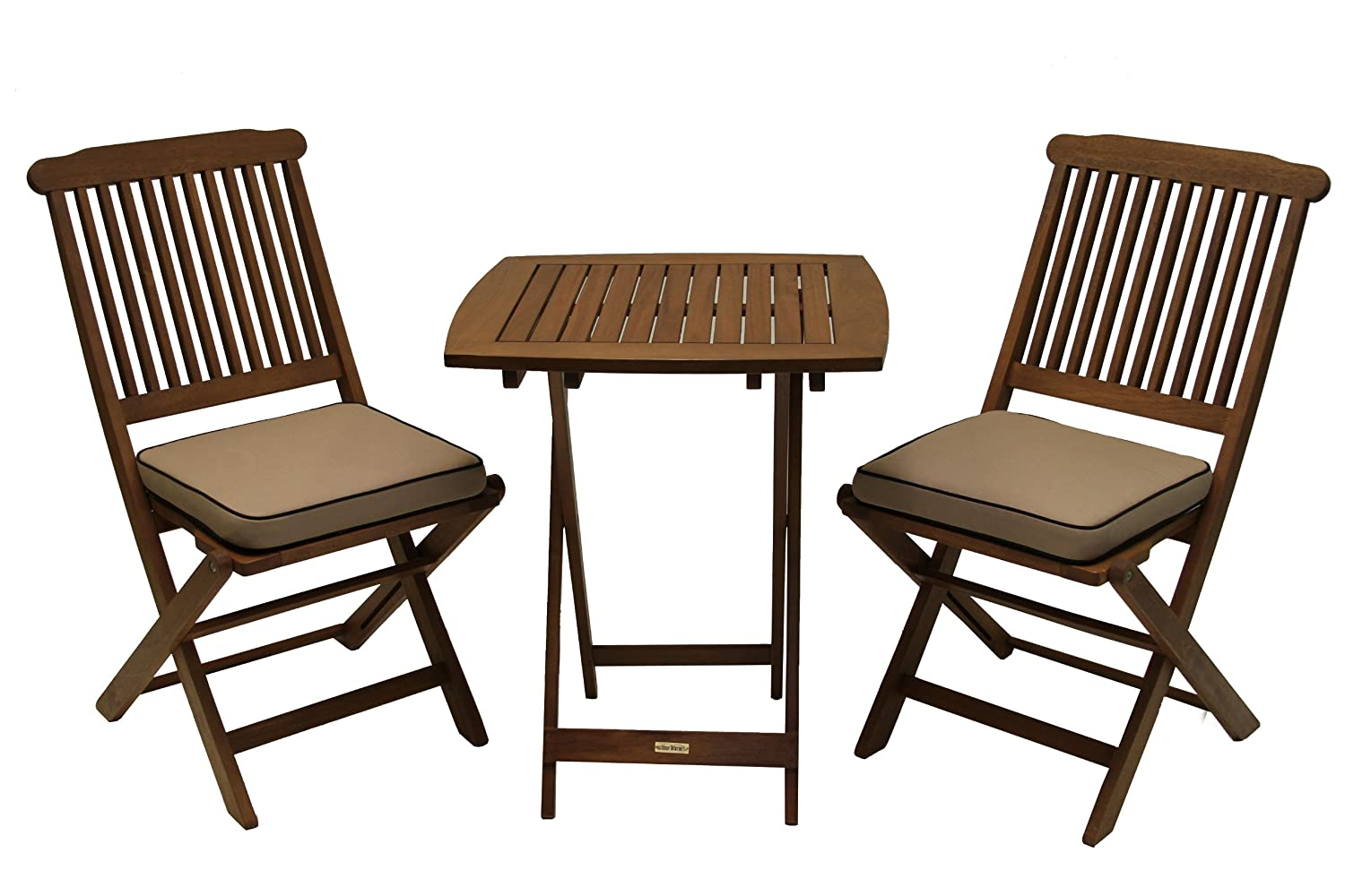 Wood patio furniture sets at the galleria for Lawn and garden furniture