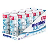Mentos Gum Pocket Bottle, Pure White Sweet Mint, 1.06 Ounce (Pack of 10) (Tamaño: BOX/10)