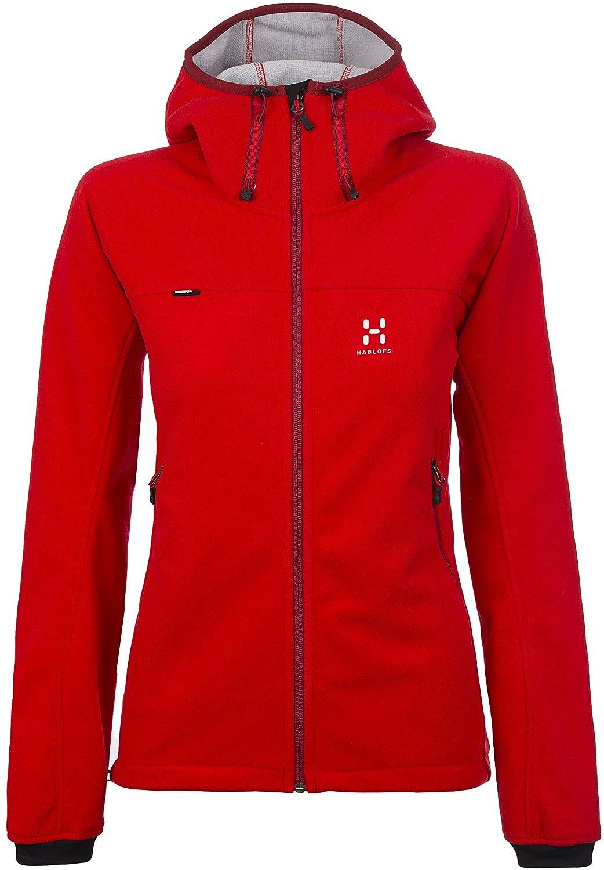 Haglöfs Cyclone Q Hood Fleece Jacke Real Red bestellen