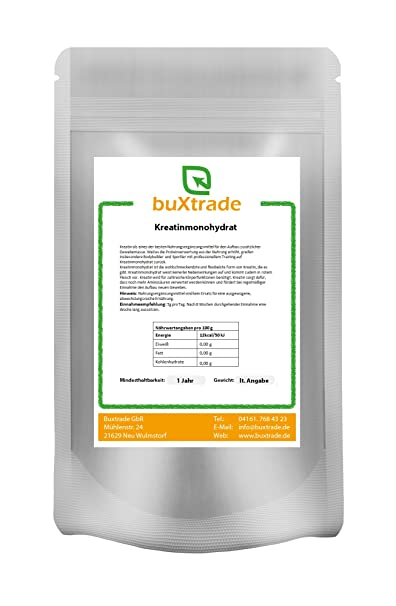 5 kg Kreatinmonohydrat Kreatin Creatin Creatine Monohydrate Pur Pure 100% rein