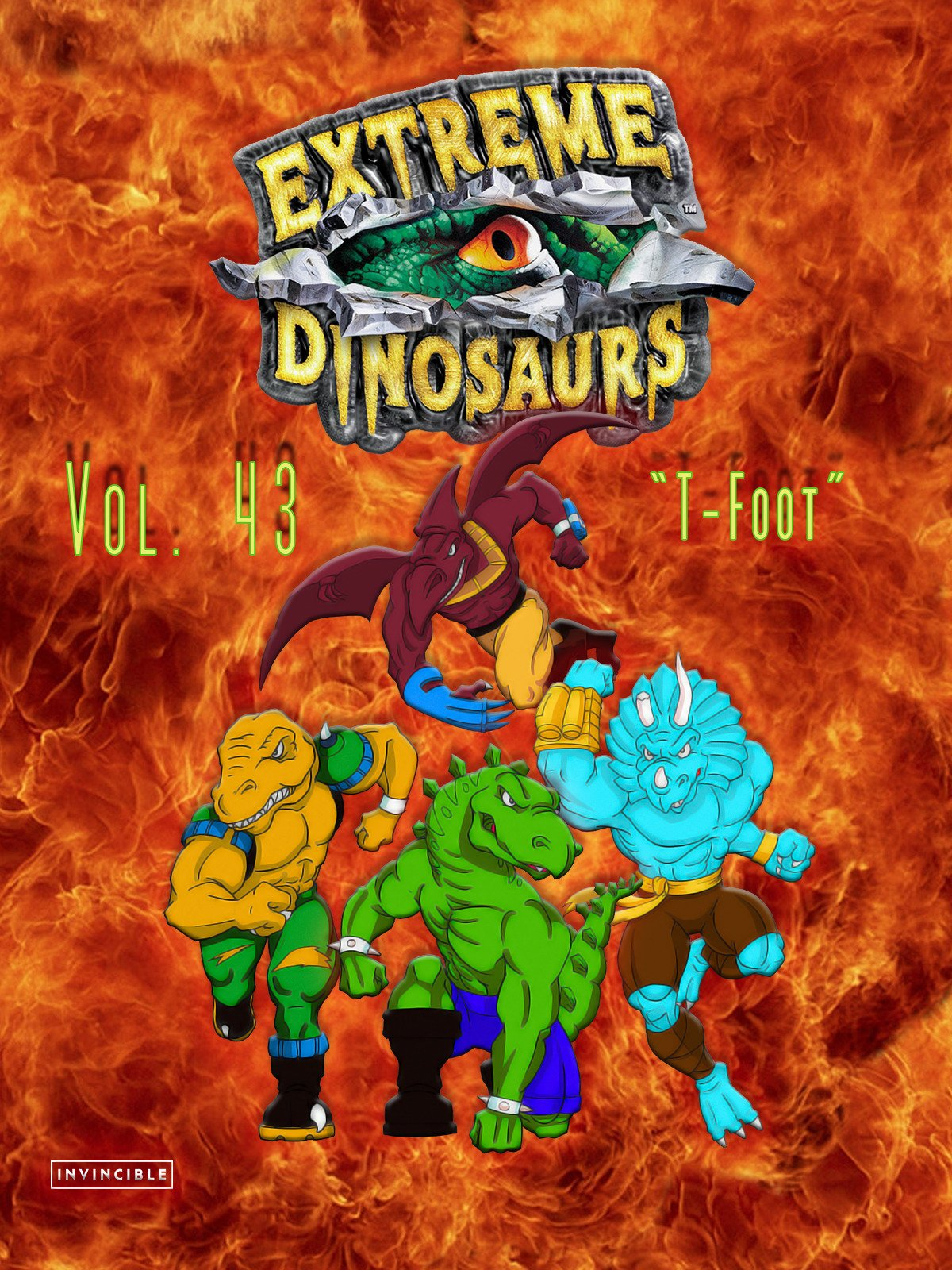 Extreme Dinosaurs Vol. 43T-Foot