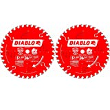 Freud D0536X Diablo 5-3/8-Inch 36 Tooth ATB Finish Cordless Trim Saw Blade (2 Pack)