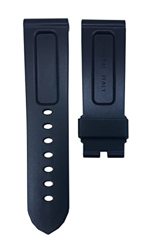 Black Diver Watch Strap Replacement Band for Luminor 24mm | Free Spring Bar Tool
