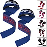 RDX Gym Straps Weight Lifting Crossfit Wrist Support Wraps Hand Bar Bodybuilding Training Workout (Color: Blue, Tamaño: Standard)