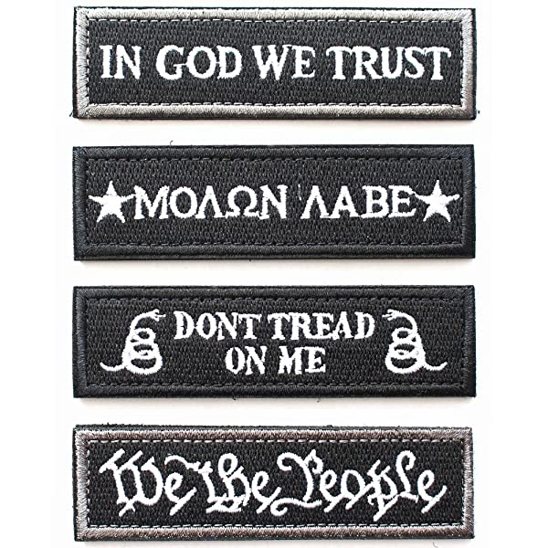 Housoner Bundle Tactical Military Morale Patch Set (Black) (Color: Black)