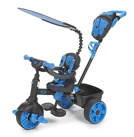 Little Tikes - 634338E4 - Tricycle - 4 En 1 Deluxe Néon Bleu/Noir
