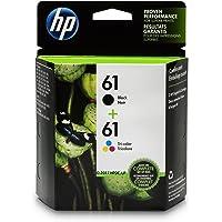 HP 61 2-Pack Black & Tri-color Original Ink Cartridges