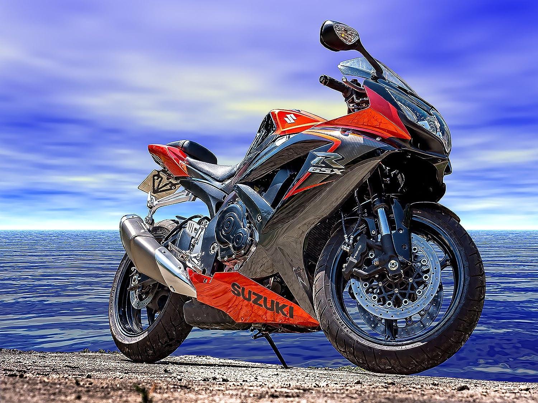 Motorcycle Poster Motorcycle Print Suzuki Motorcycle Biker Gifts 18x24
