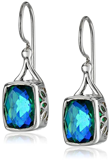 Sterling Silver Caribbean Quartz Earrings