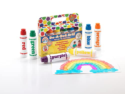 Do A Dot Art! Markers 6-Pack Rainbow Washable Paint Markers, The Original Dot Marker via Amazon