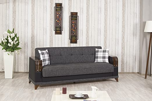 Almira Sofa Bed | Elena Gray Fabric
