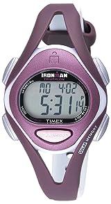 Reloj para dama correa de Resina gris Timex Ironman Sleek T5K007 Plum 50-Lap