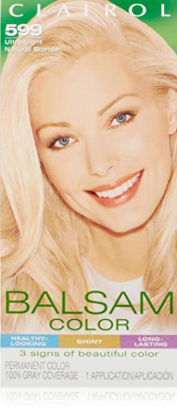 Clairol Balsam Hair Color 599 Ultra Light Natural Blonde 1 Kit (Pack of 3)