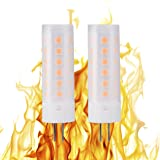 ChiChinLighting Flickering Flame LED Bulbs 2W 12volt G4 LED Flickering Fire Affects 1800k 12v Simulated Lighting Wood Stove Candle Camp Fire Affect (2 Pack)