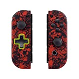 eXtremeRate Demons and Monsters Soft Touch Joycon Handheld Controller Housing (D-Pad Version) with Full Set Buttons, DIY Replacement Shell Case for Nintendo Switch Joy-Con - Console Shell NOT Included (Color: JZ_Demons and Monsters, Tamaño: Joycon Shell and Buttons - Dpad Version)