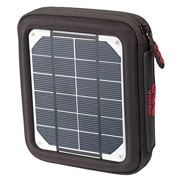 Voltaic Systems Amp Portable Rapid Solar Charger with Battery Pack (Power Bank) 6,400mAh & 2 Year Warranty | Powers Phones Compatible with iPhone, Tablets, USB, More | Waterproof - Silver (Color: Silver, Tamaño: Standard)