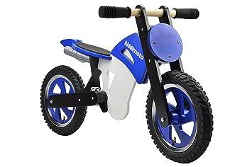 Kiddimoto - 916/203 - Vélo et Véhicule pour Enfant - Scrambler Blue Black White