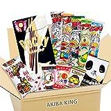 Pocky & Japanese snack DAGASHI set with AKIBA KING sticker