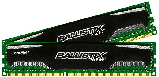 Crucial Ballistix Sport 8GB Kit 4GBx2 DDR3 1600