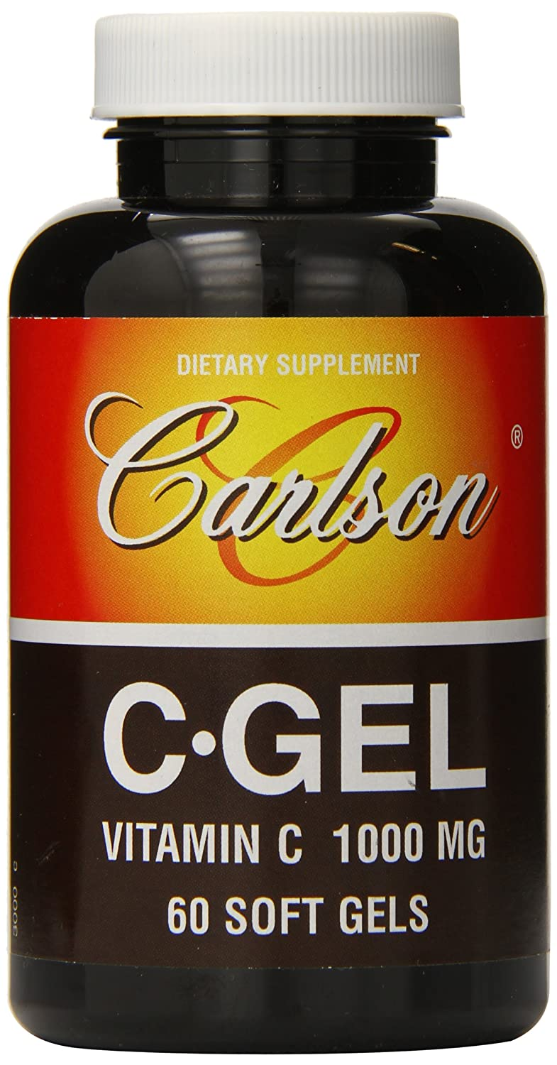Carlson Labs C-Gel Natural Vitamin C, 1000mg, 60 Softgels mason natural vitamin d3 2000 iu softgels 120 ea