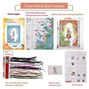 Cross Stitch Stamped Kit Pre-Printed Cross-Stitching Patterns for Beginner Kids & Adults – Embroidery Crafts Needlepoint Starter Kits, to Explore The Miracle (Color: Stamped 18.9×14.5inch, Tamaño: 18.9X14.5 inch)