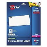 Avery Easy Peel Return Address Labels for Laser Printers 1/2