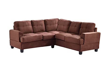 Glory Furniture G512B-SC Sectional Sofa, Chocolate, 2 boxes