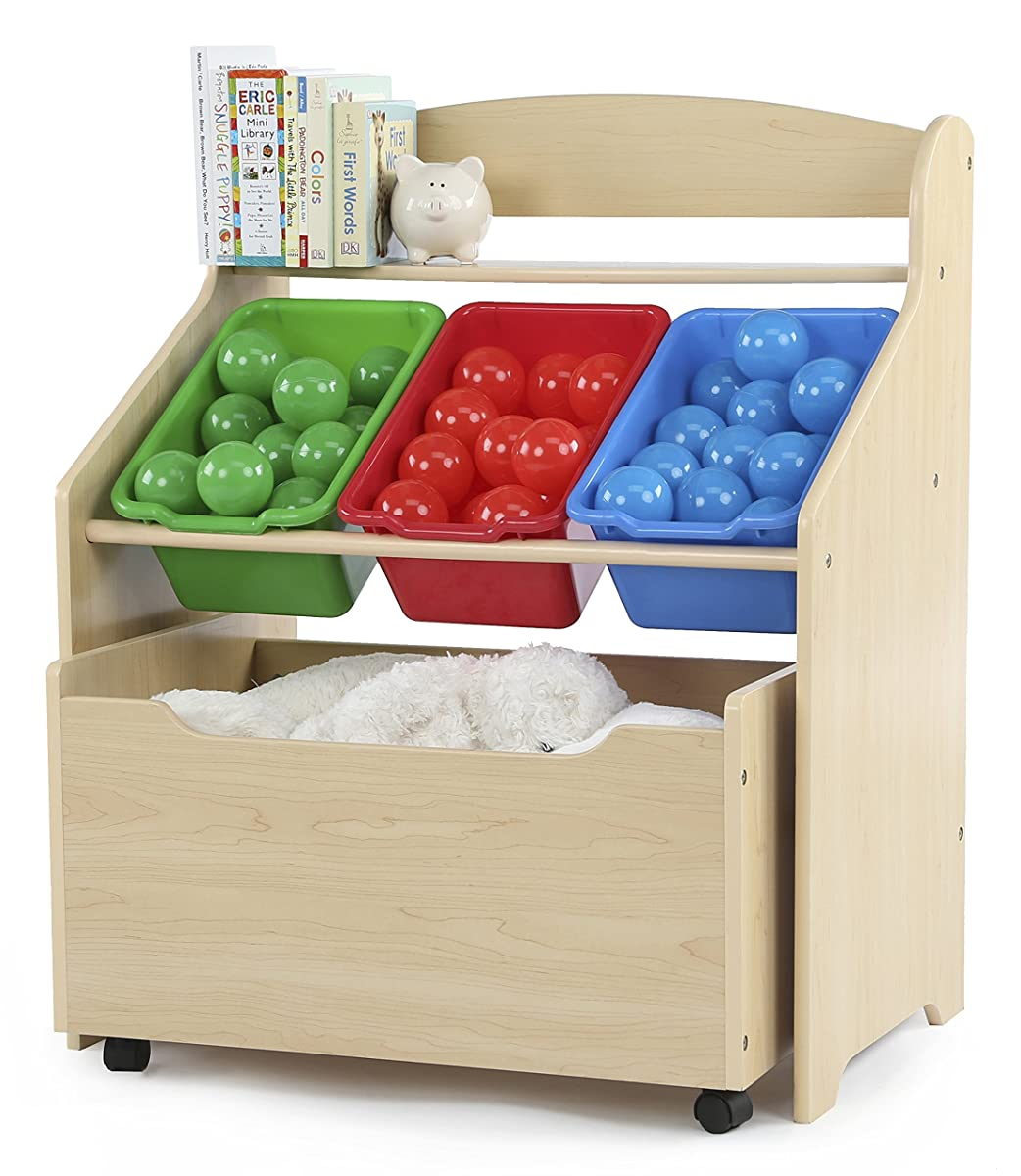 Tot Tutors Kids Store-All Unit, Natural Finish