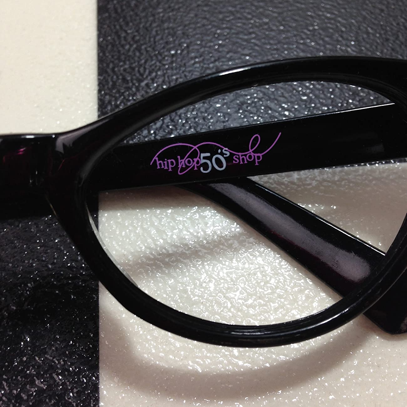 Hip Hop 50s Shop Womens Cat Eye Rhinestone Glasses 4