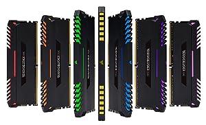 CORSAIR VENGEANCE RGB 64GB (4x16GB) DDR4 3000MHz C16 Desktop Memory - Black (Color: RGB - Black, Tamaño: 64GB (4x16GB))