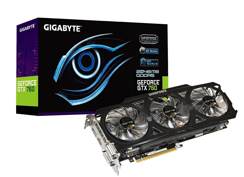 Gigabyte GTX 760 GDDR5 2GB 2xDVI HDMI DP OC WINDFORCE 3X