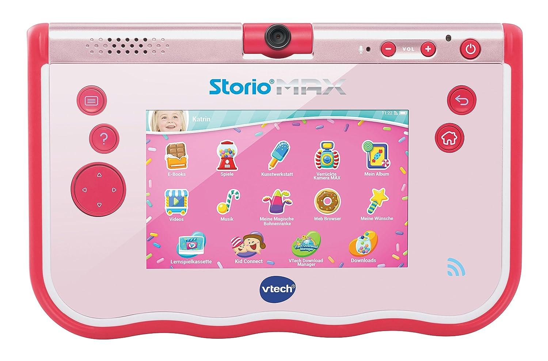 VTech 80-183854 – Lerntablet – Storio MAX 5 Zoll, pink als Weihnachtsgeschenk